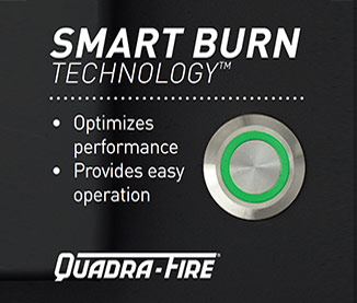 Quadra-Fire® Smart Burn Technology™
