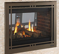 Majestic Pearl II See-Through Direct Vent Gas Fireplace