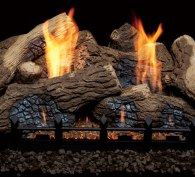 Monessen Hearth Berkley Oak Ceramic Vent Free Gas Log Set