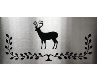 Brushed Stainless Deer Plate