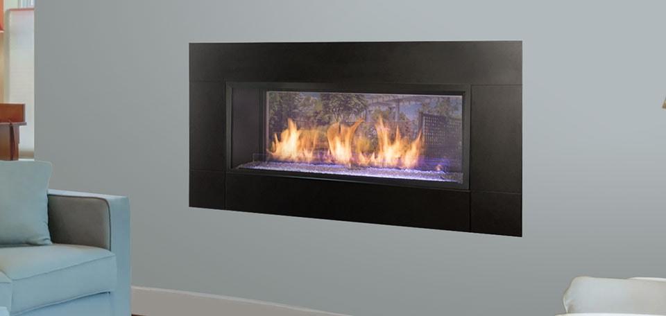 Monessen Hearth Artisan See Through Vent Free Gas Fireplace
