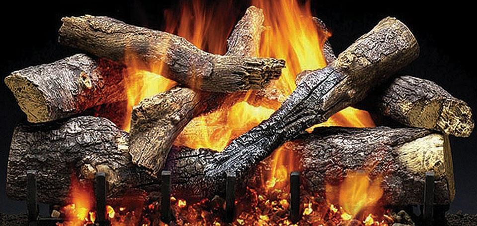 Outdoor Fireside Grand Oak Gas Log Set