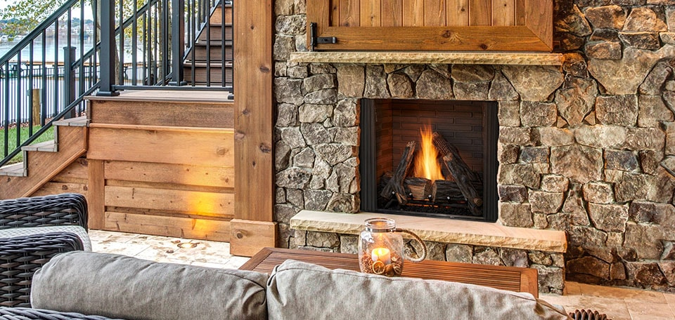 Outdoor Lifestyles Courtyard Gas Fireplace