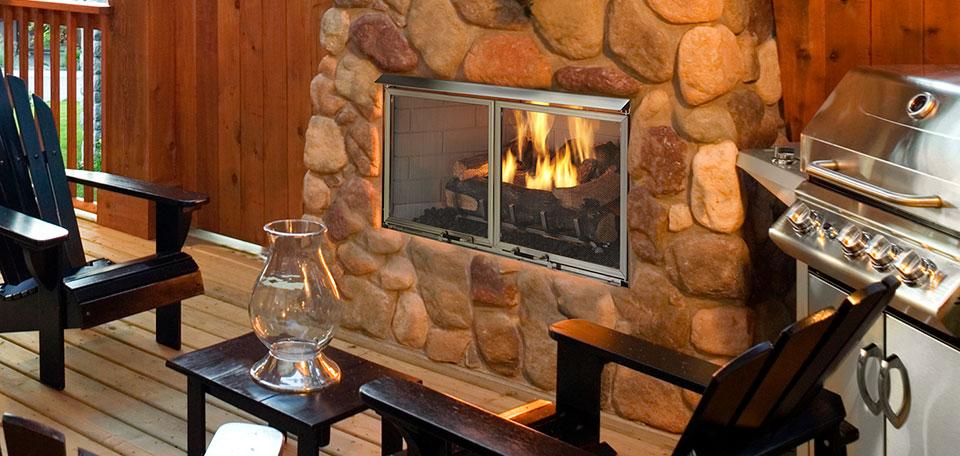Outdoor Lifestyles Villa Gas Fireplace