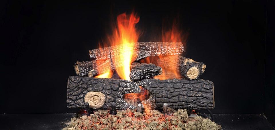 Outdoor Fireside Realwood Gas Log Set