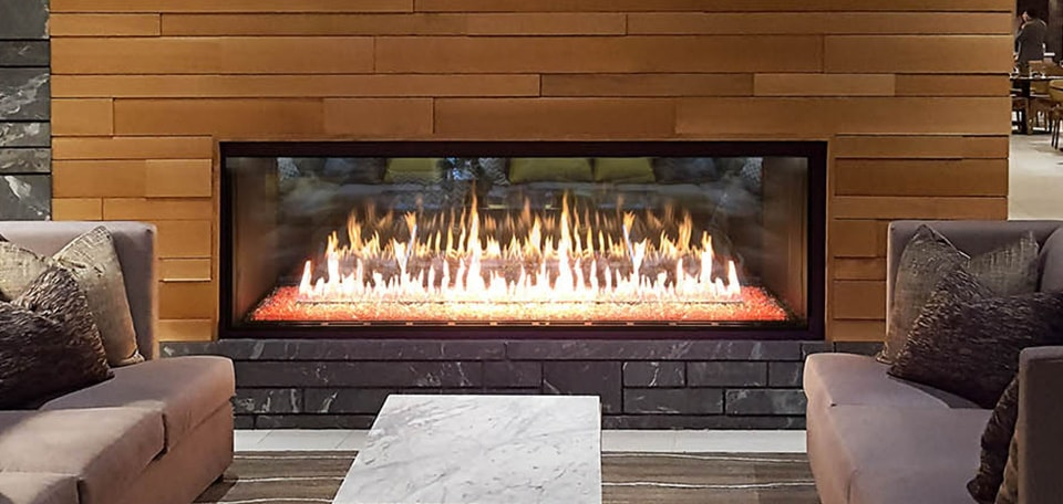 Foundation See-Through Gas Fireplace
