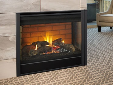 Majestic Corner Series Direct Vent Gas Fireplace
