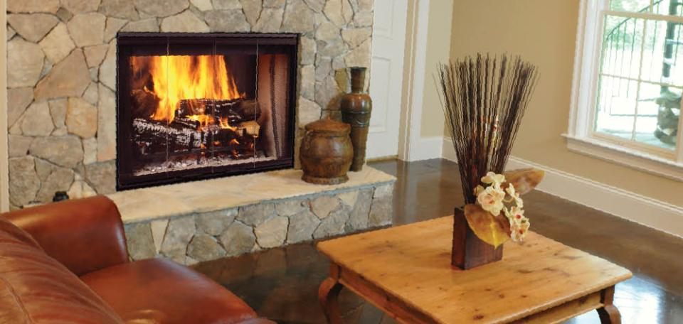 Designer Series Wood-Burning Fireplace
