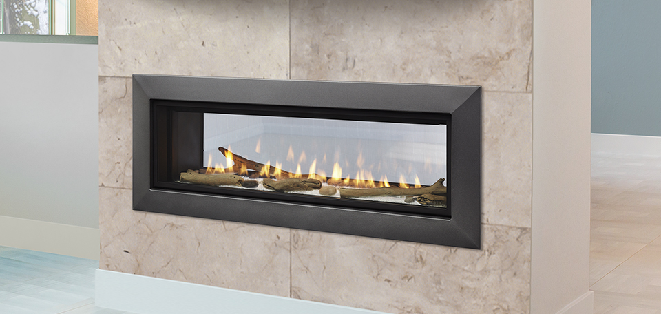 Echelon II See-Through Direct Vent Gas Fireplace