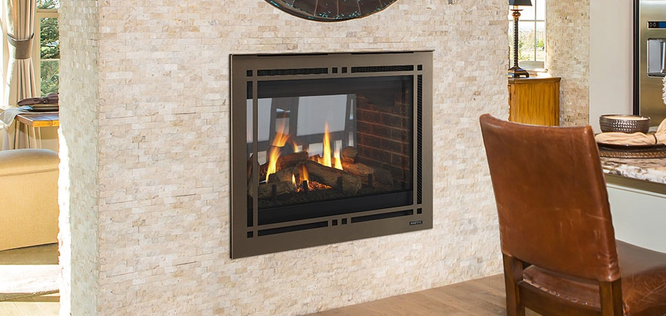 Pearl II See-Through Direct Vent Gas Fireplace