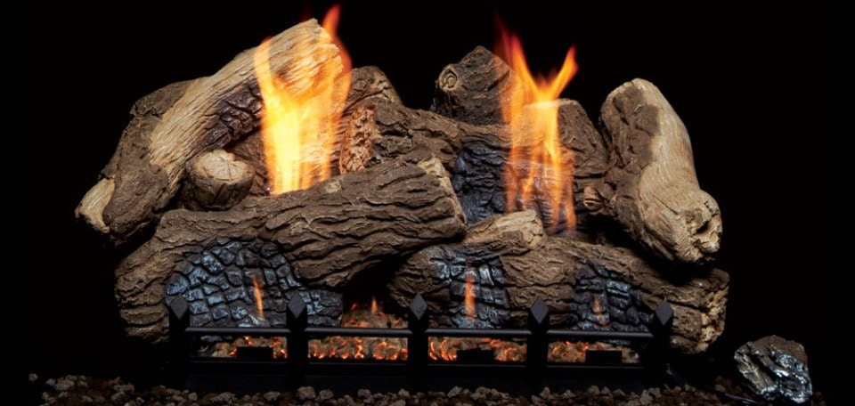 Monessen Hearth Berkley Oak Ceramic Vent Free Gas Log Set