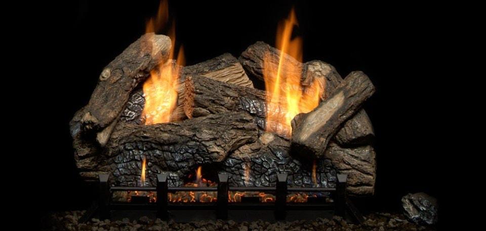 Monessen Hearth Berkley Oak Refractory Vent Free Gas Log Set