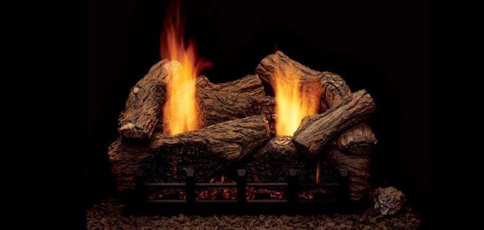 Monessen Hearth Highland Oak Refractory Vent Free Gas Log Set