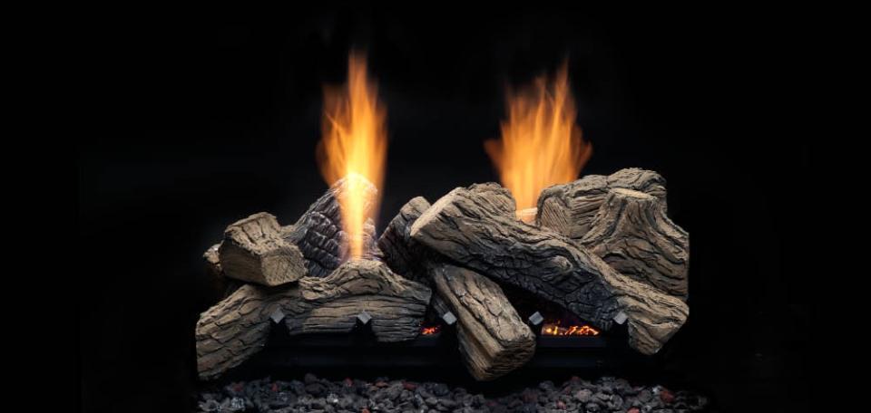 Monessen Hearth Natural Blaze See-Thru Vent Free Gas Log Set