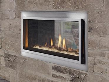 Outdoor Lifestyles Mezzanine See-Through Gas Fireplace