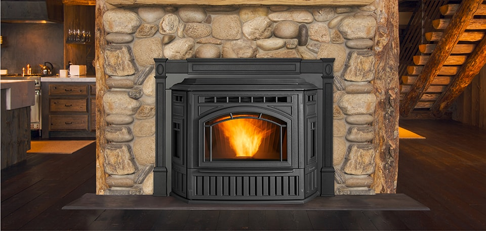 The Fireplace Showcase - Pellet Fireplace Insert, Seekonk, MA