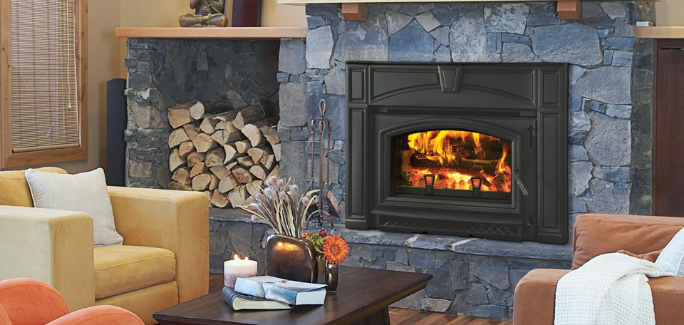 Voyageur Flush Cast Iron Wood Insert in Black